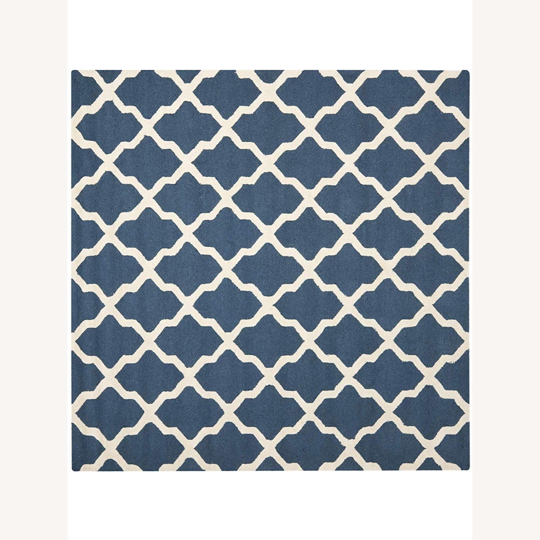 Safavieh Square Navy Blue/Ivory Area Rug - image-0