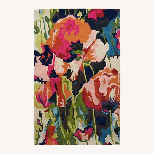 Anthropologie Brilliant Poppies Rug