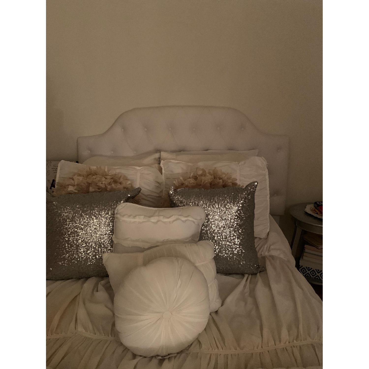 DHP Queen Faux Leather Tufted Headboard - image-7