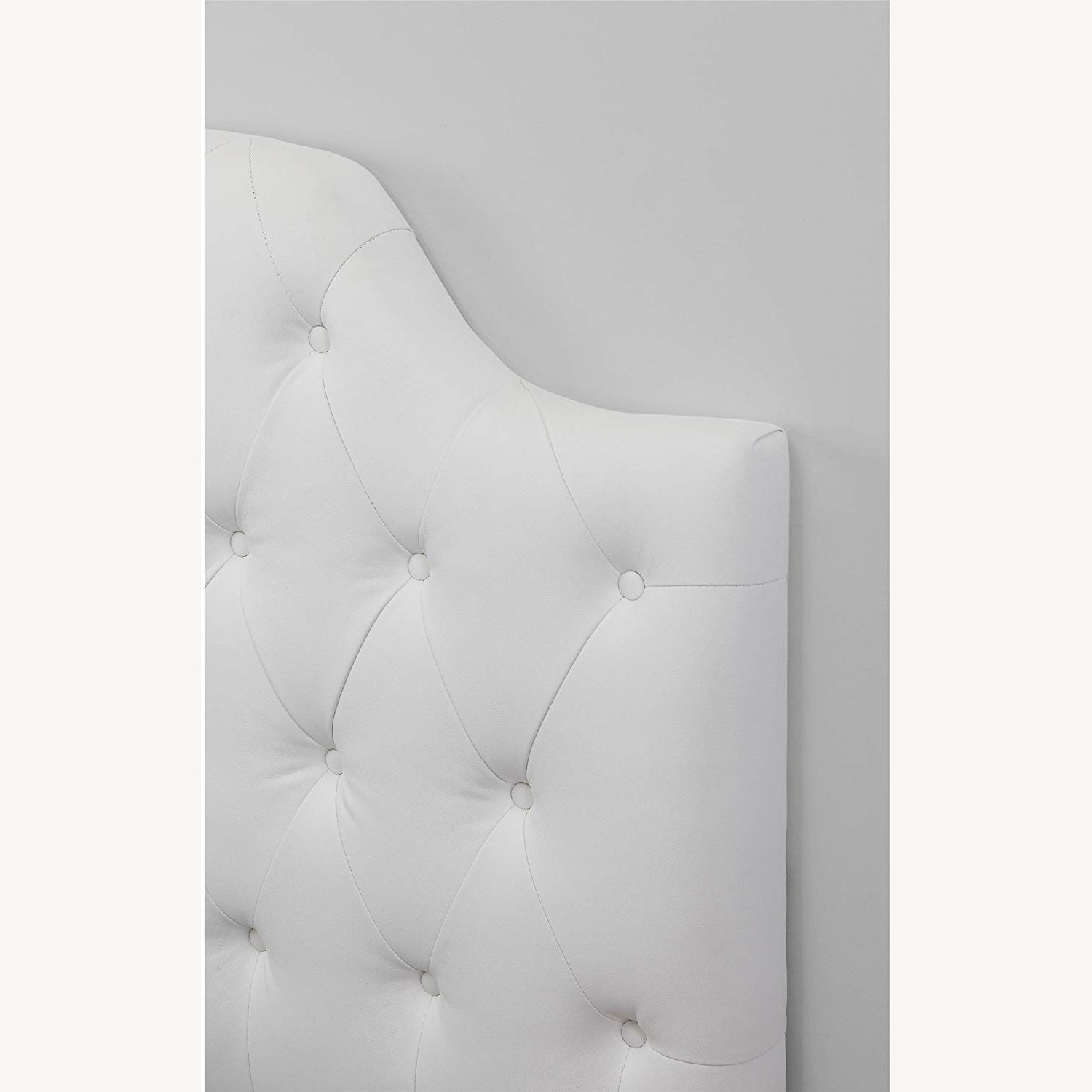 DHP Queen Faux Leather Tufted Headboard - image-3