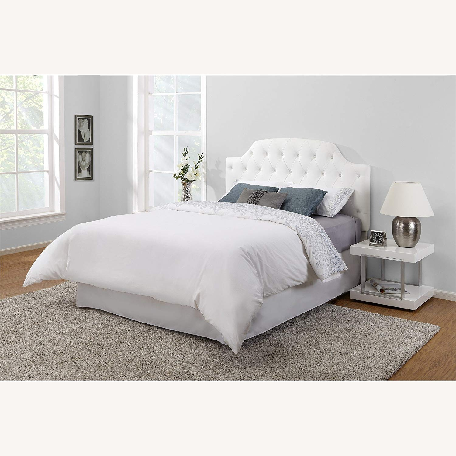DHP Queen Faux Leather Tufted Headboard - image-4