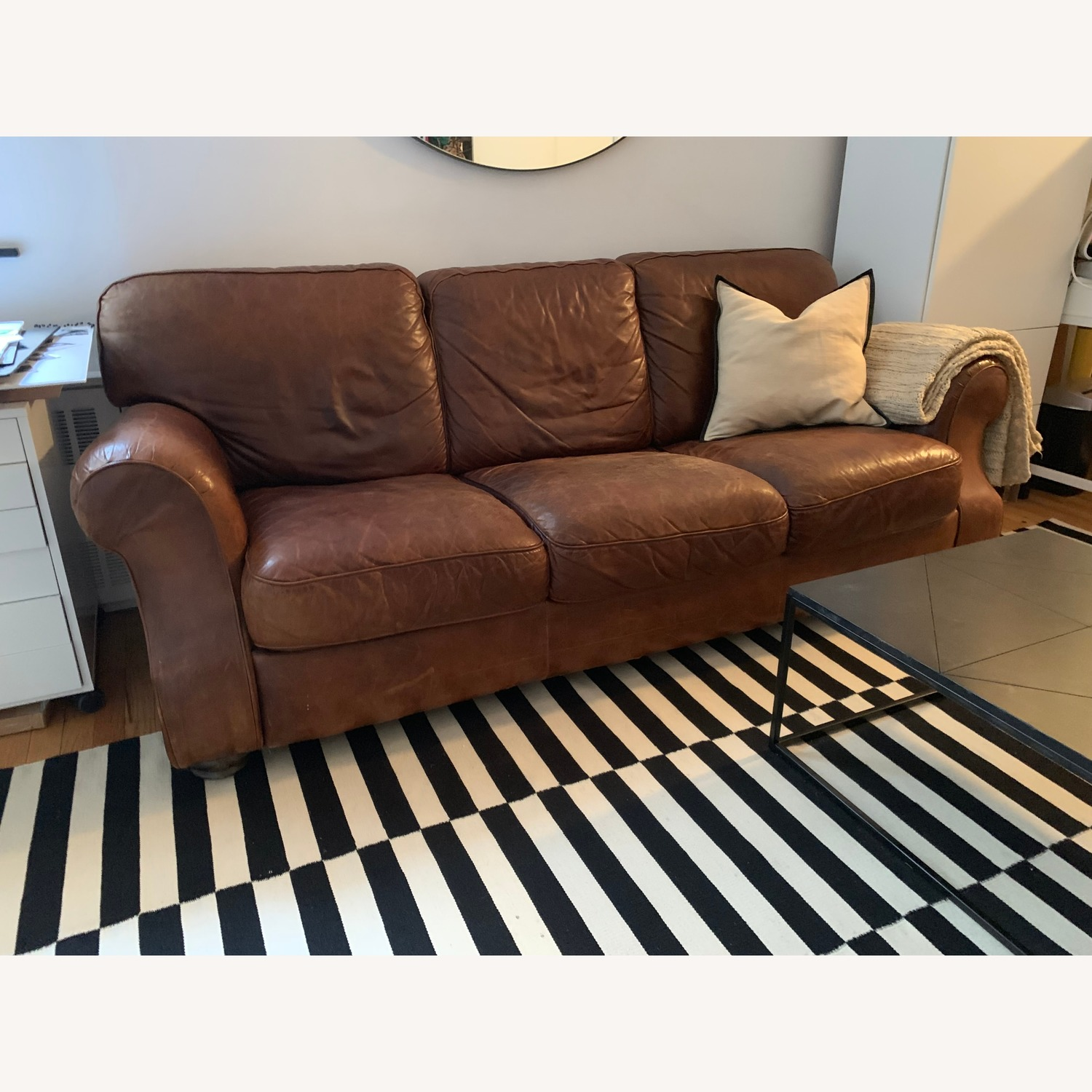 HD Buttercup Distressed Leather Sofa