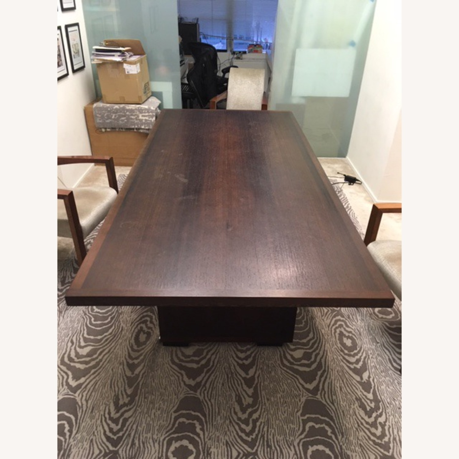 B&B Italia Large Wenge Veneer Dining Table - image-4