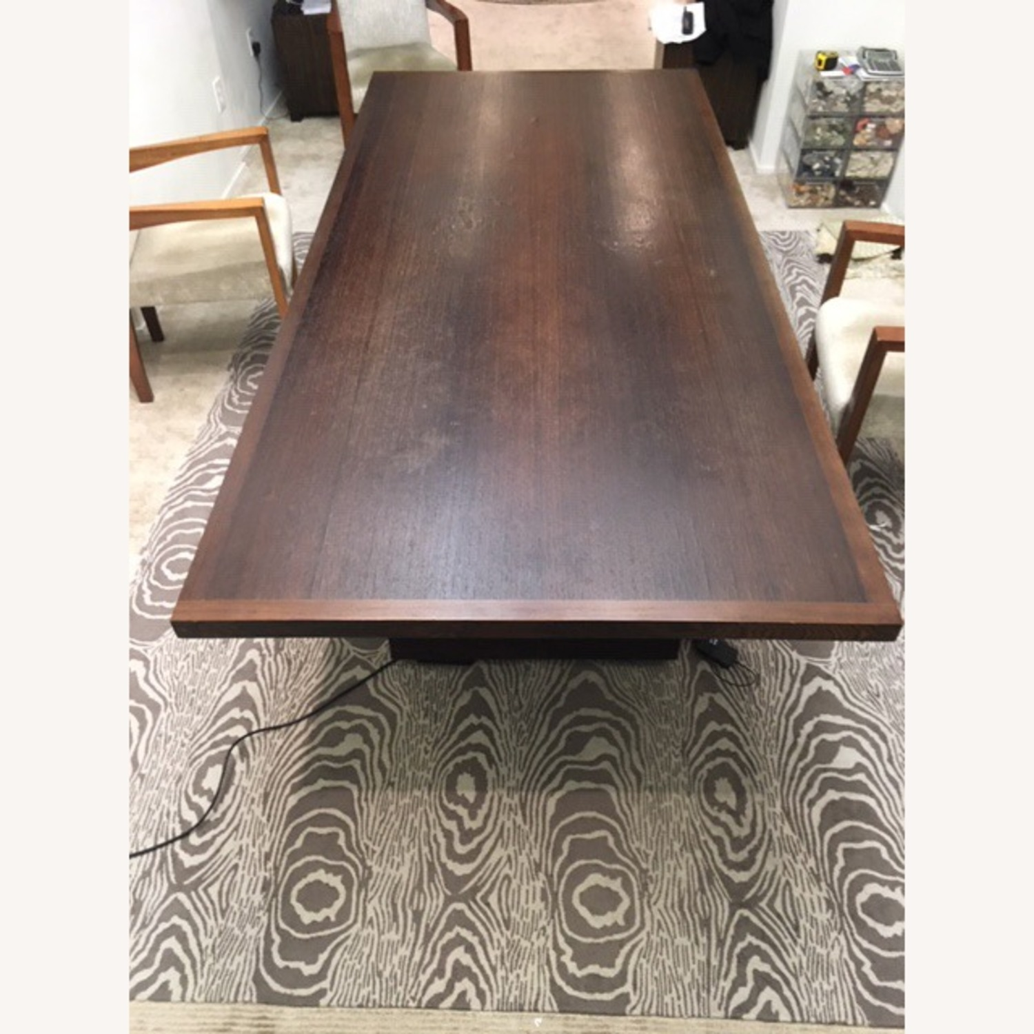 B&B Italia Large Wenge Veneer Dining Table - image-1