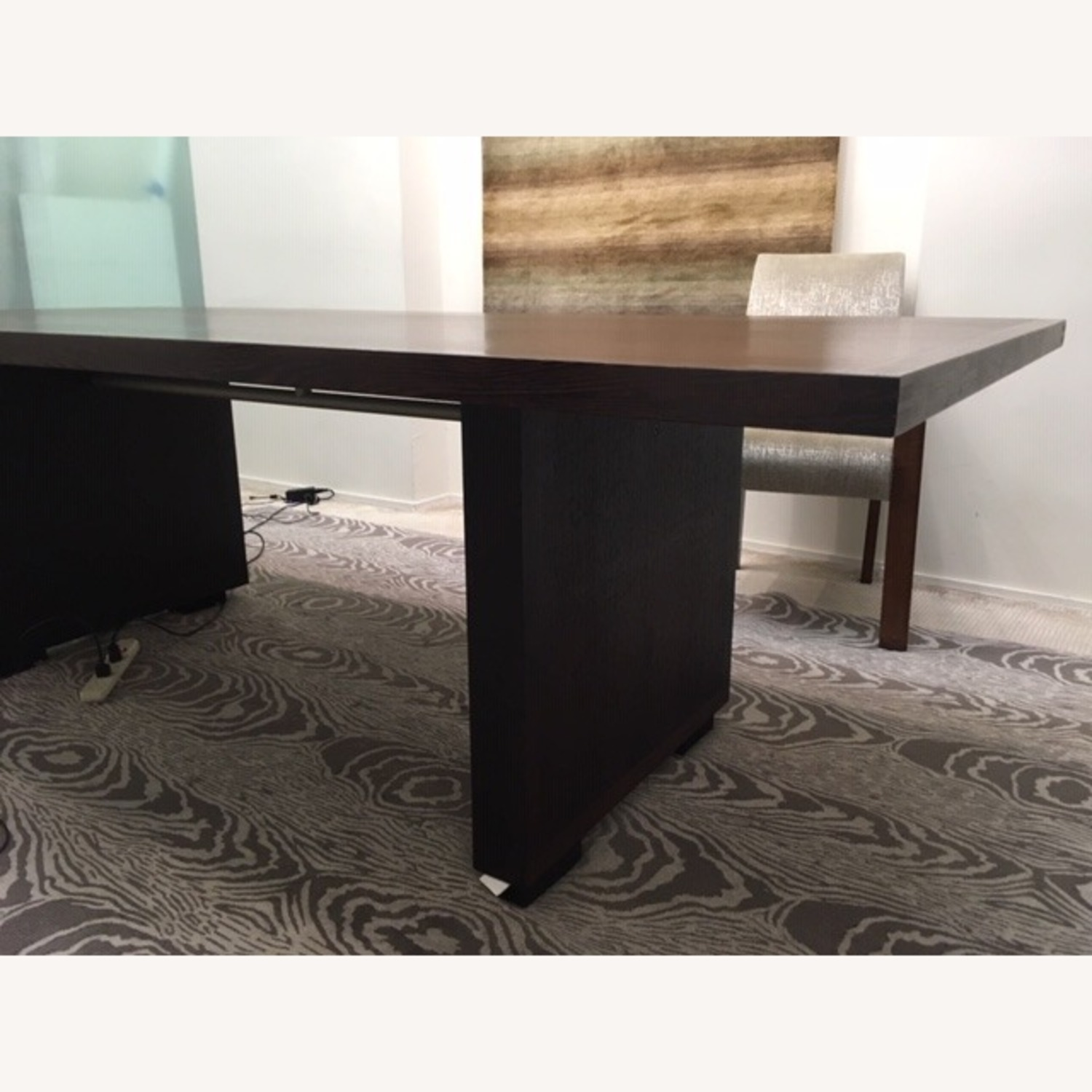 B&B Italia Large Wenge Veneer Dining Table - image-2