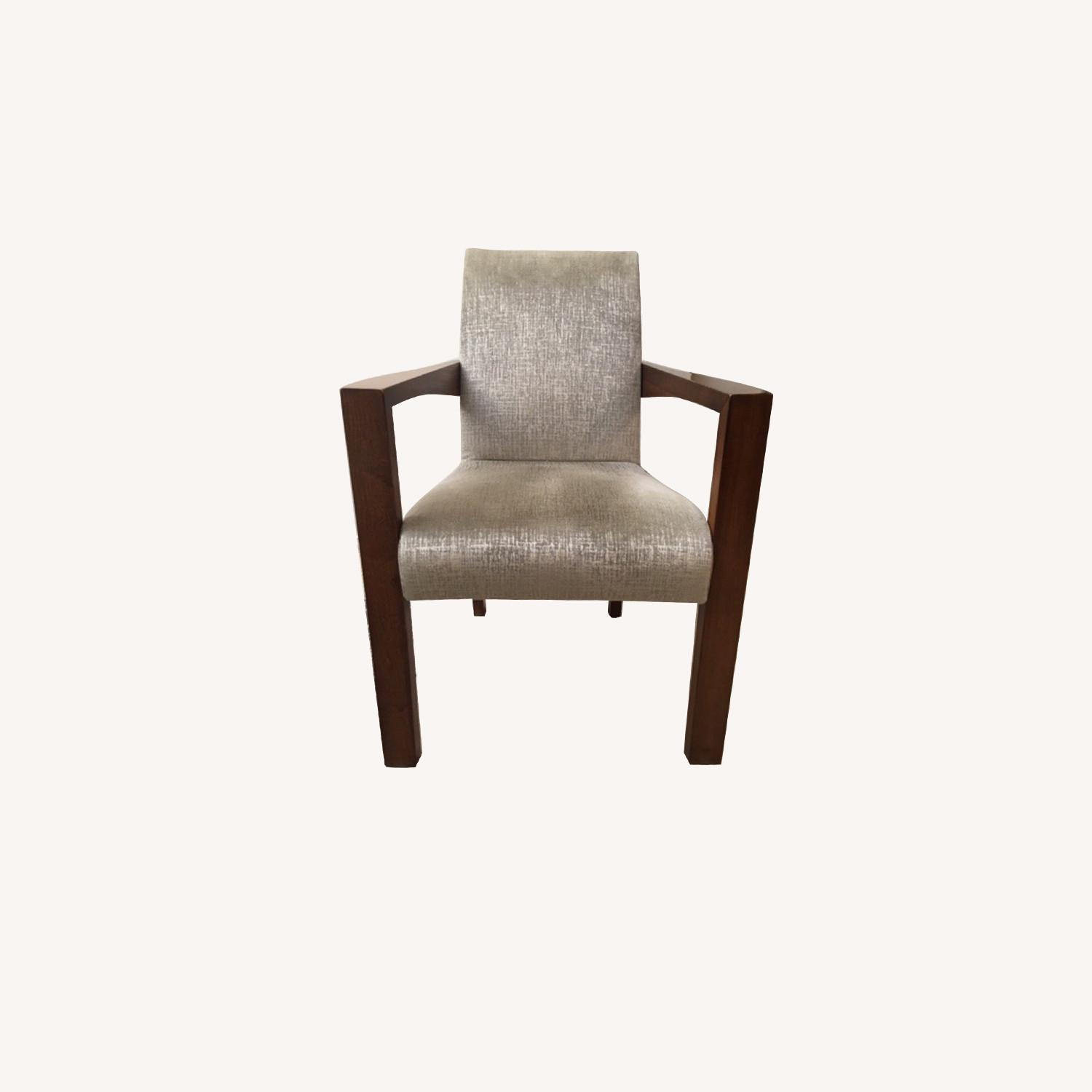 B&B Italia Upholstered Wood Dining Chairs