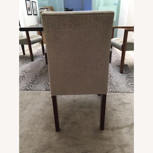 B&B Italia Upholstered Wood Dining Chairs