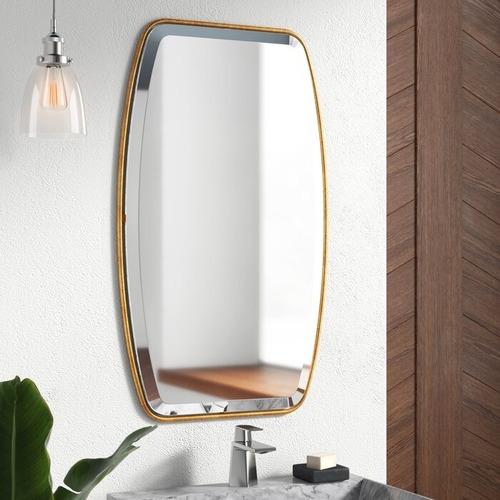 Mercury Row Lugo Gold Framed Beveled Wall Mirror