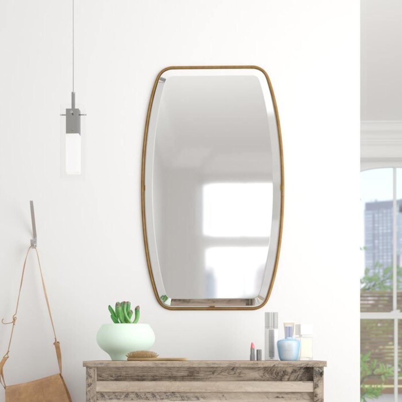 Mercury Row Lugo Gold Framed Beveled Wall Mirror - image-1