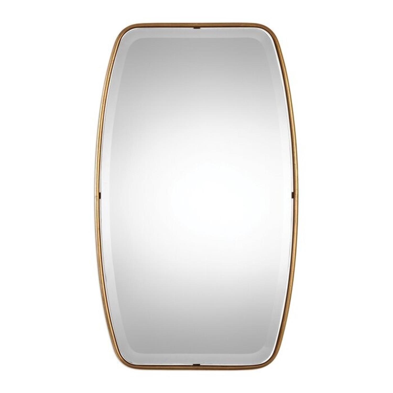 Mercury Row Lugo Gold Framed Beveled Wall Mirror - image-0