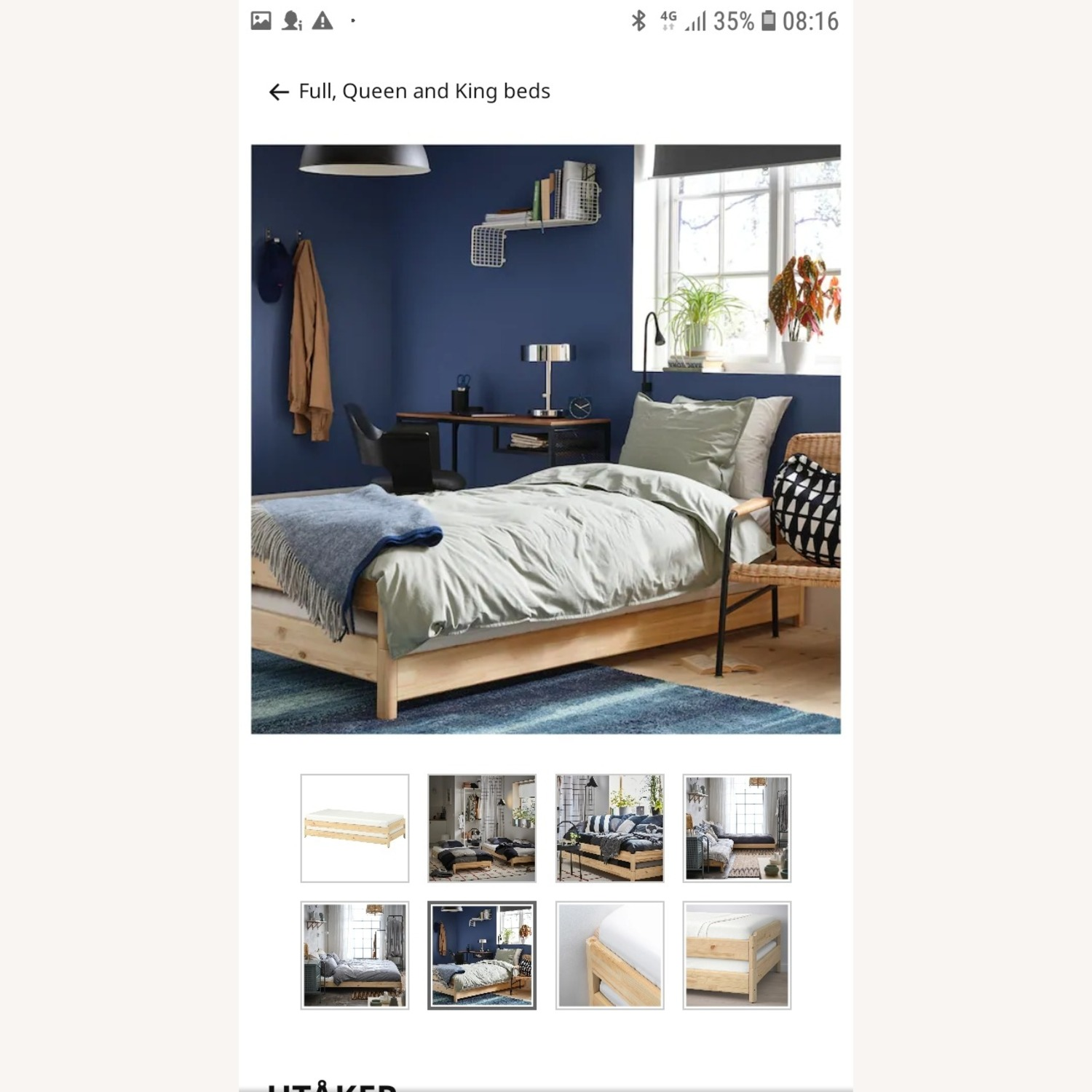 Picture of: Ikea Pine Twin Stackable Bed Aptdeco