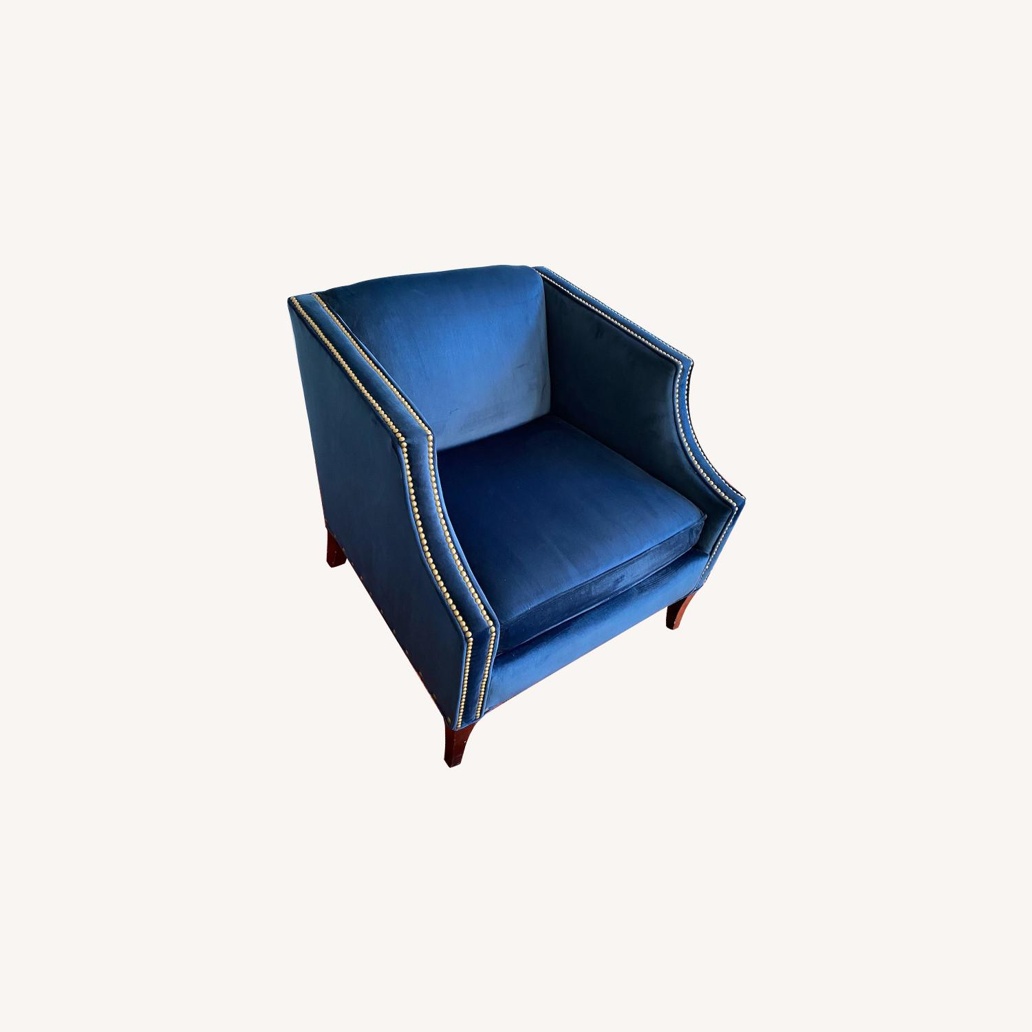 Bloomingdale's Blue Velvet Accent Chair