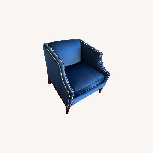Bloomingdale's Blue Velvet Accent Chair
