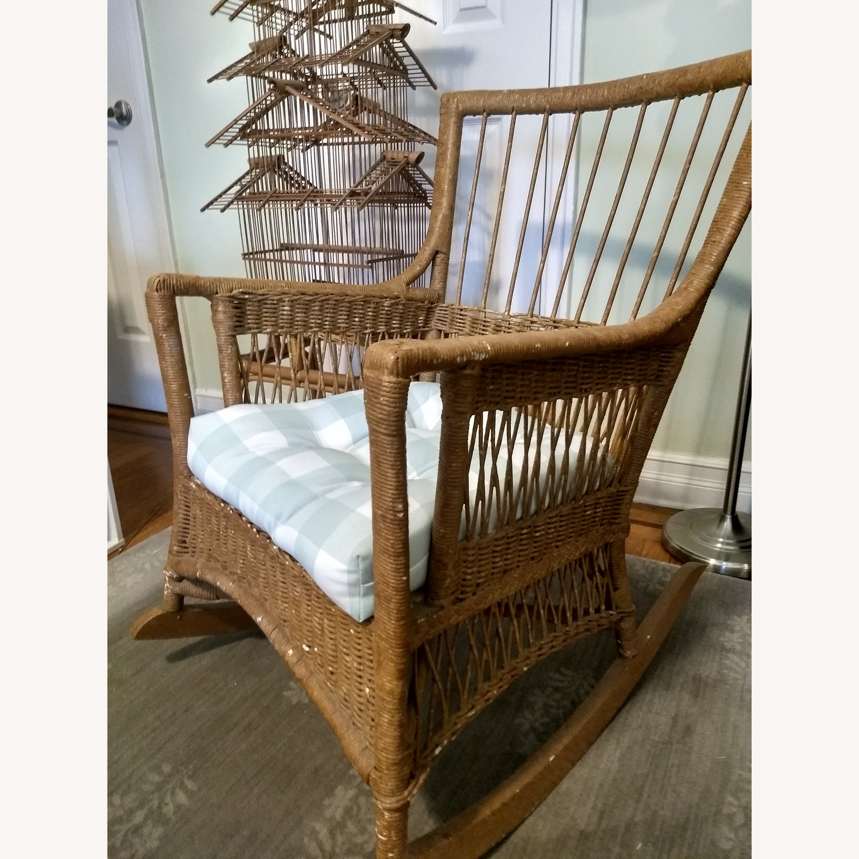 Antique Wicker Rocker Arm Chair