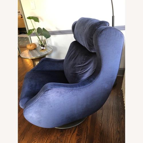 Lazzoni Blue Velvet Lounge Chair
