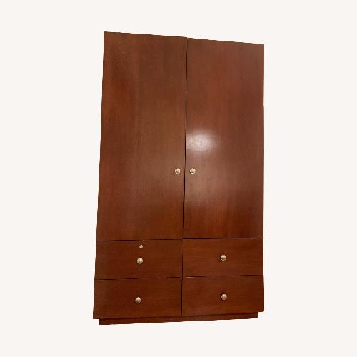 Used South Shore Furniture Dark Wood Armoire for sale on AptDeco