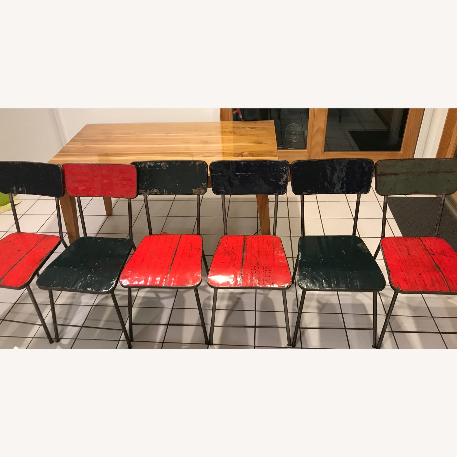 From The Source Pele Recycled Oil Drums Dining Chairs - image-2