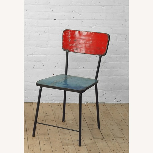Used From The Source Pele Recycled Oil Drums Dining Chairs for sale on AptDeco