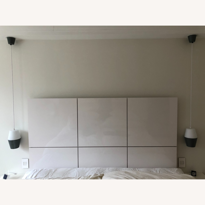 Ligne Roset Lumeo White Lacquer King Size Headboard - image-3