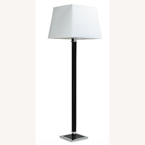 Ralph Lauren Home Leather & Chrome Floor Lamps