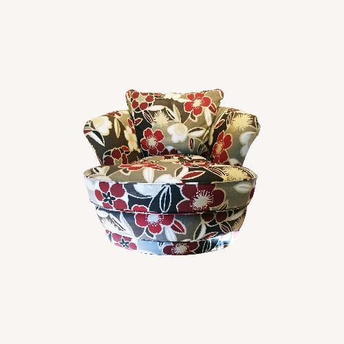 La-Z-Boy Floral Power Swivel Bucket Chair