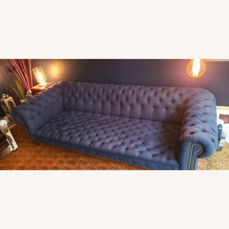 Ralph Lauren English Chesterfield Denim Sofa - image-5