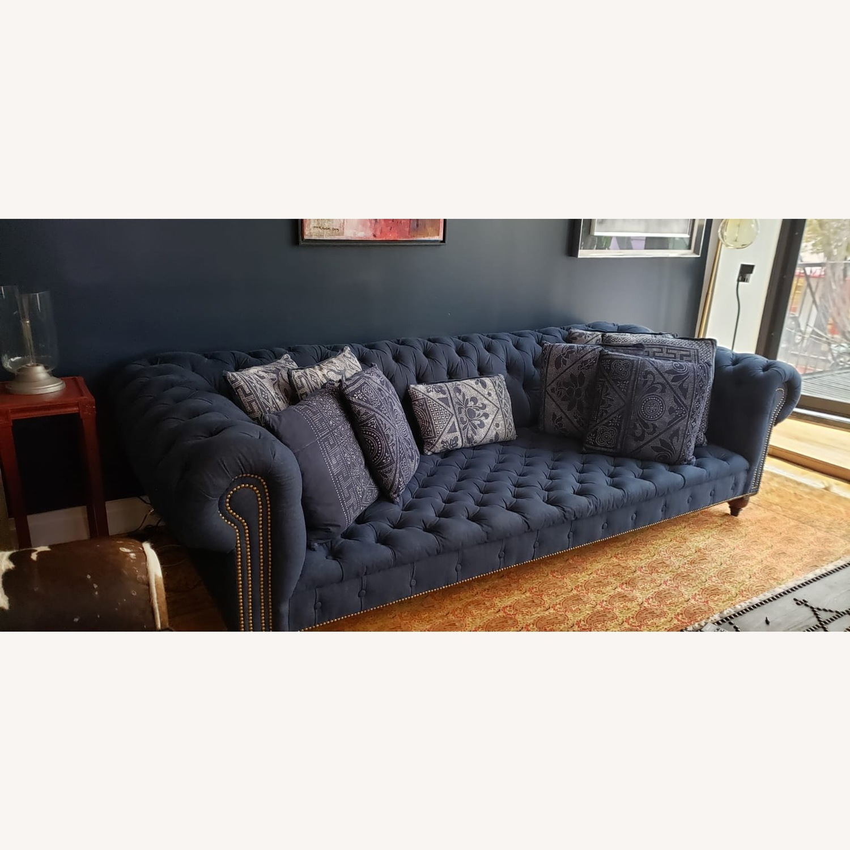Ralph Lauren English Chesterfield Denim Sofa - image-2