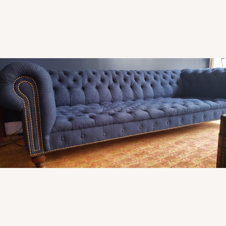 Ralph Lauren English Chesterfield Denim Sofa