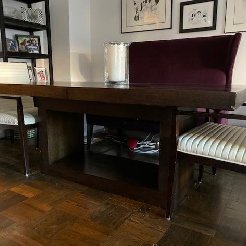 Z Gallerie Extending Dining Table w/ 4 Chairs