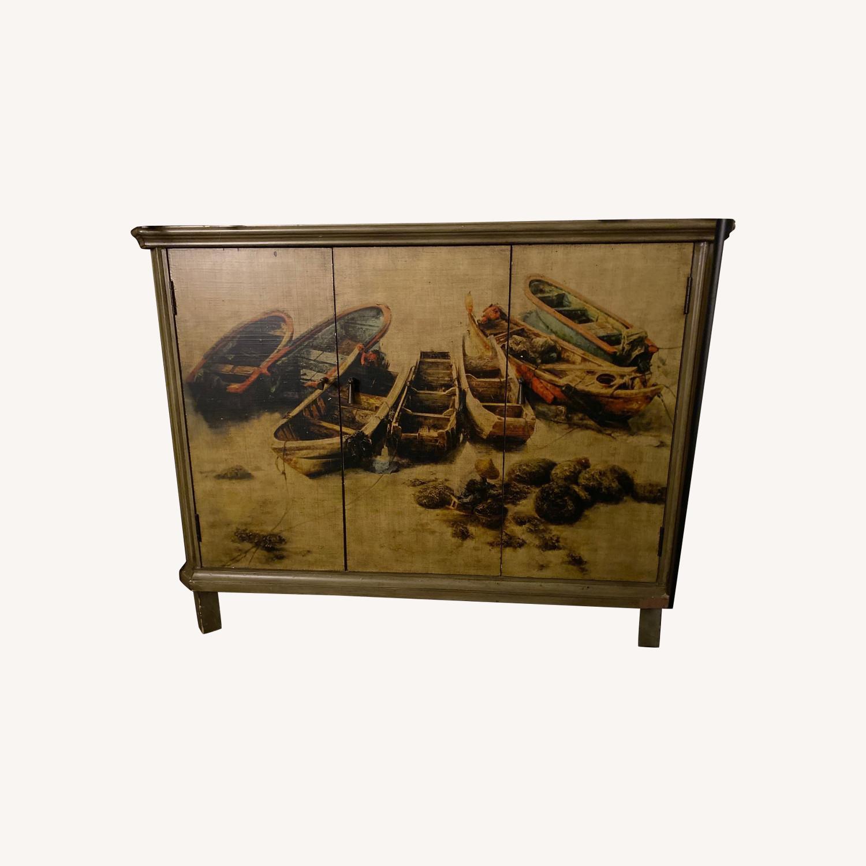 Vintage Printed TV Stand - image-0