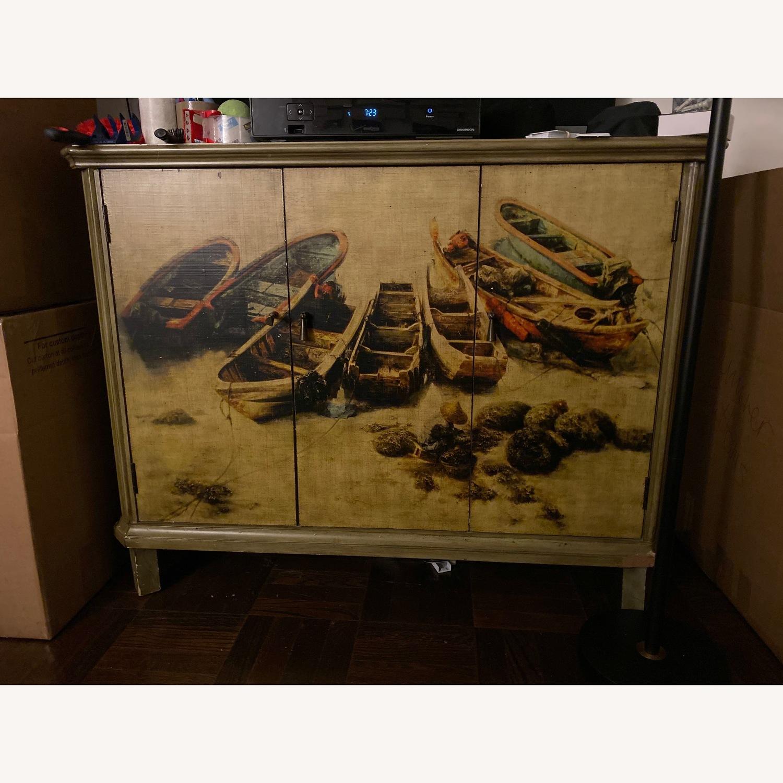 Vintage Printed TV Stand - image-8