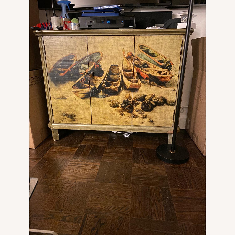 Vintage Printed TV Stand - image-6