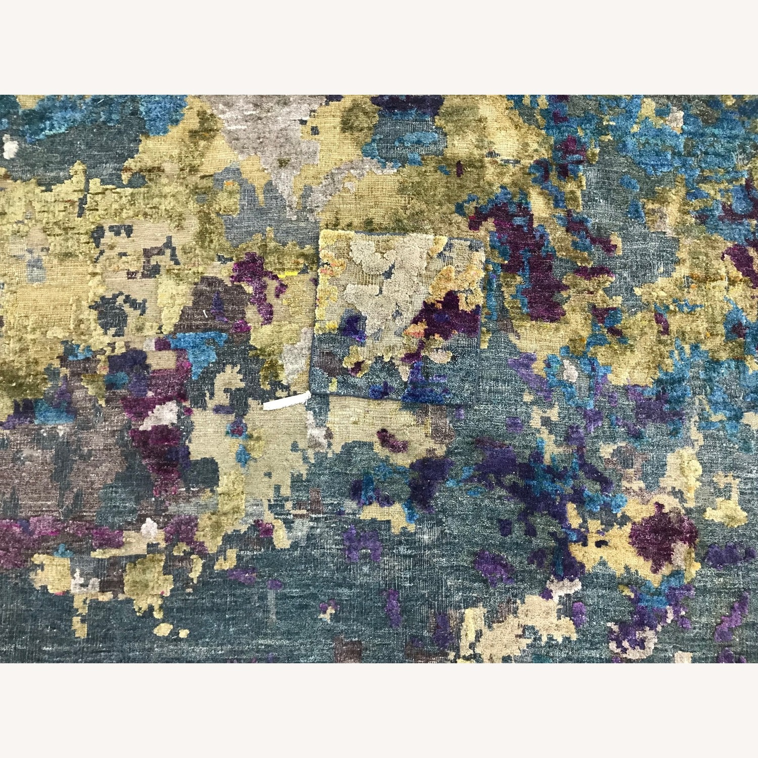 Hand-Knotted Wool & Silk Abstract Organic Woven Rug - image-5