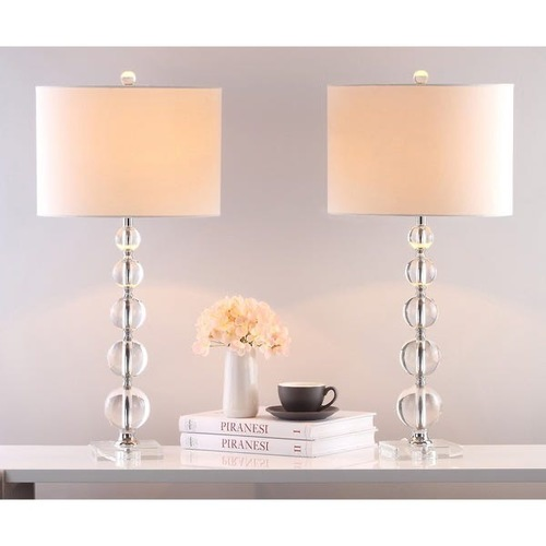 Safavieh Stacked Crystal Table Lamps