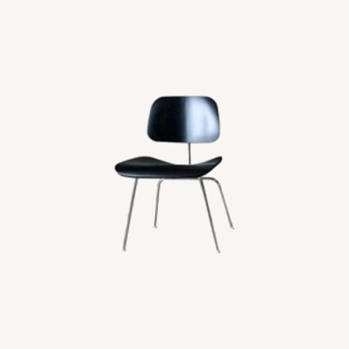 Used Herman Miller Eames DCM Ebony Stained Ash Dining Chairs for sale on AptDeco