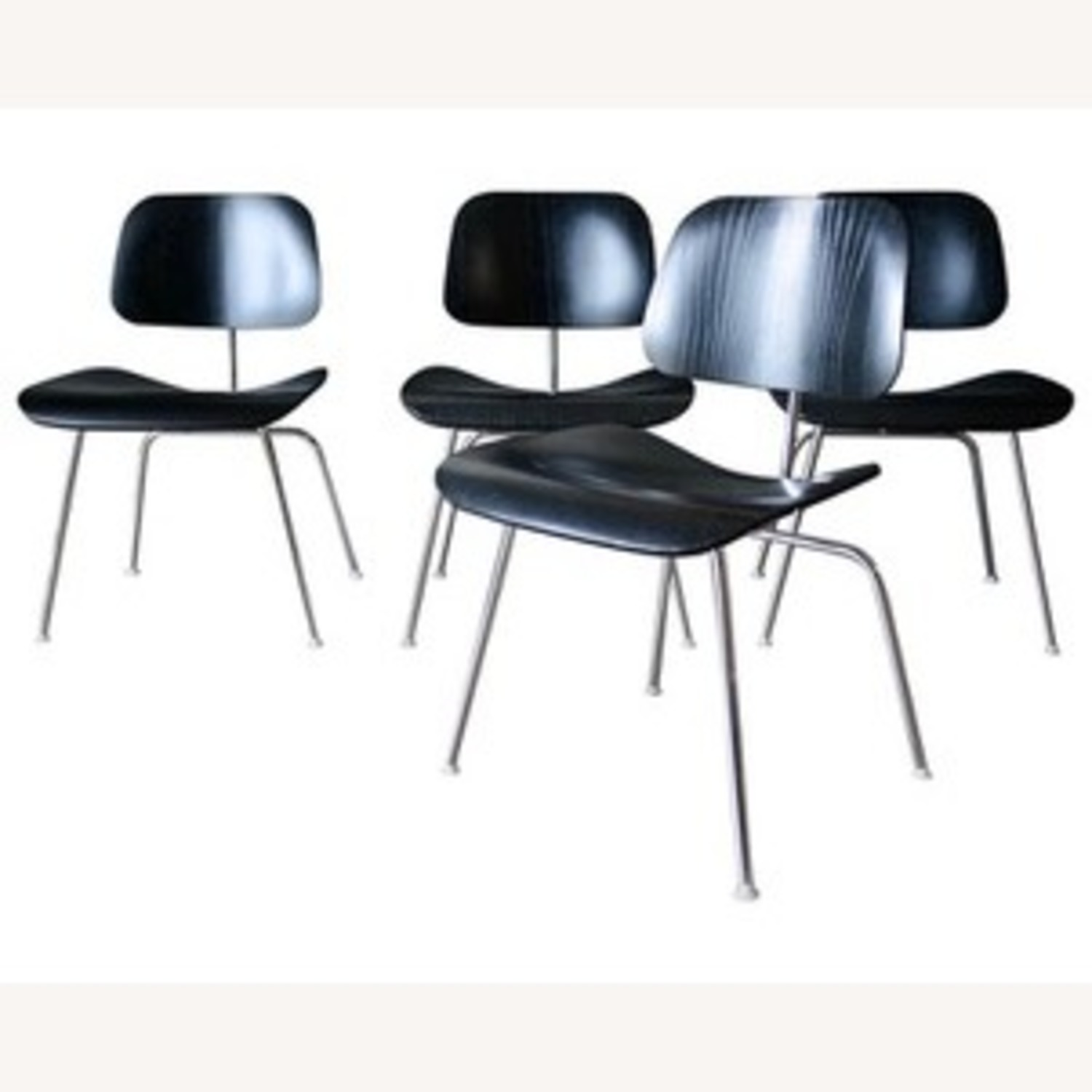 Herman Miller Eames DCM Ebony Stained Ash Dining Chairs