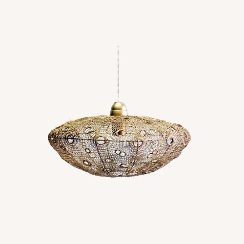 Selamat Designs Vela Stratus Pendant in Antique Brass