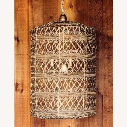Selamat Designs Vela Pendant in Antique Brass