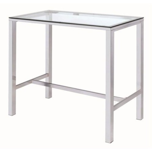 Used Coaster Fine Furniture Chrome Glass Bar Height Table for sale on AptDeco