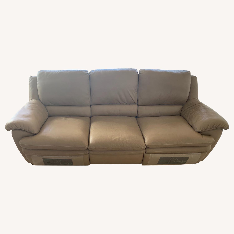 Natuzzi Leather Reclining 3-Seater Sofa - image-0