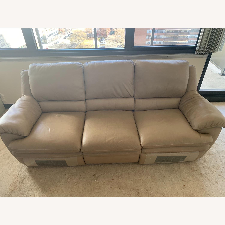 Natuzzi Leather Reclining 3-Seater Sofa - image-4
