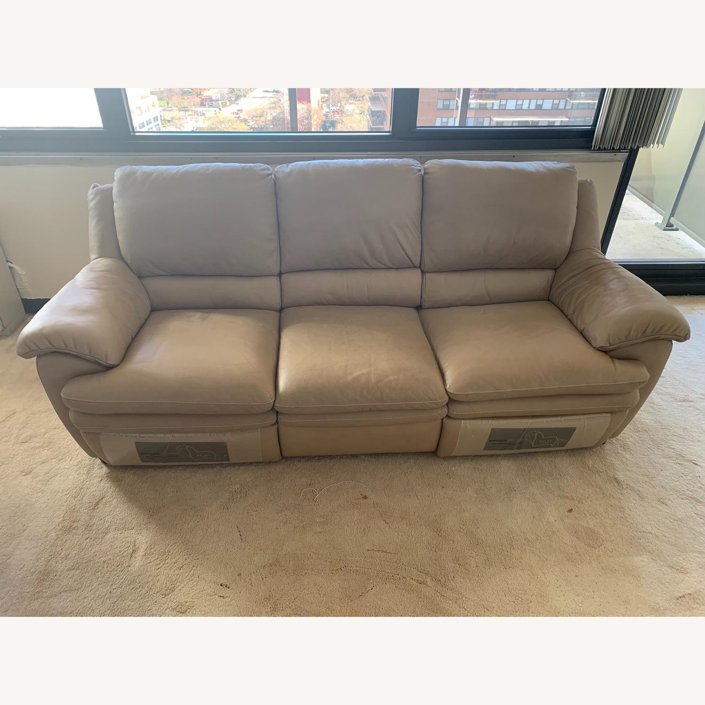 Natuzzi Leather Reclining 3-Seater Sofa - image-1