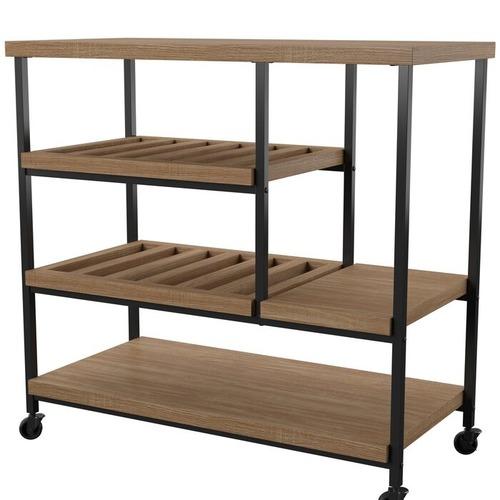 Mercury Row Landis Oak Bar Cart