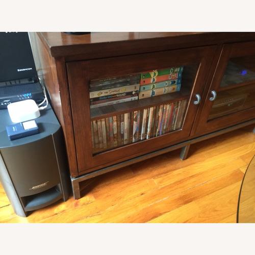 Ethan Allen 3 Glass Door Media Cabinet