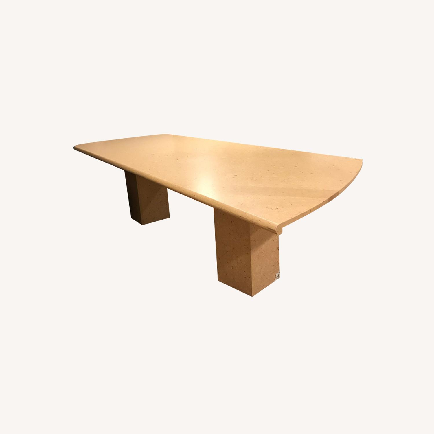 Natural Marble Dining/Conference Table - image-0