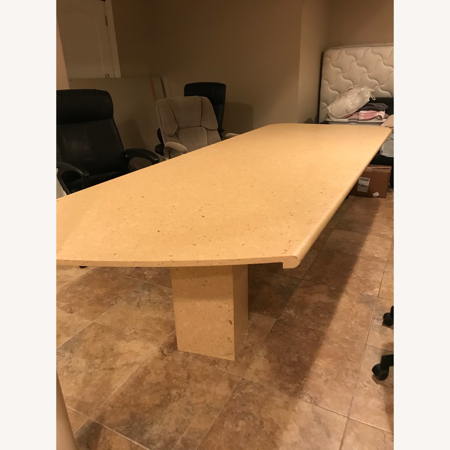 Natural Marble Dining/Conference Table - image-3