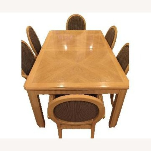 Thomasville Wood Dining Table w/ 6 Chairs