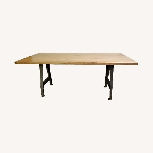 Used From the Source Natural Wood Dining Table for sale on AptDeco