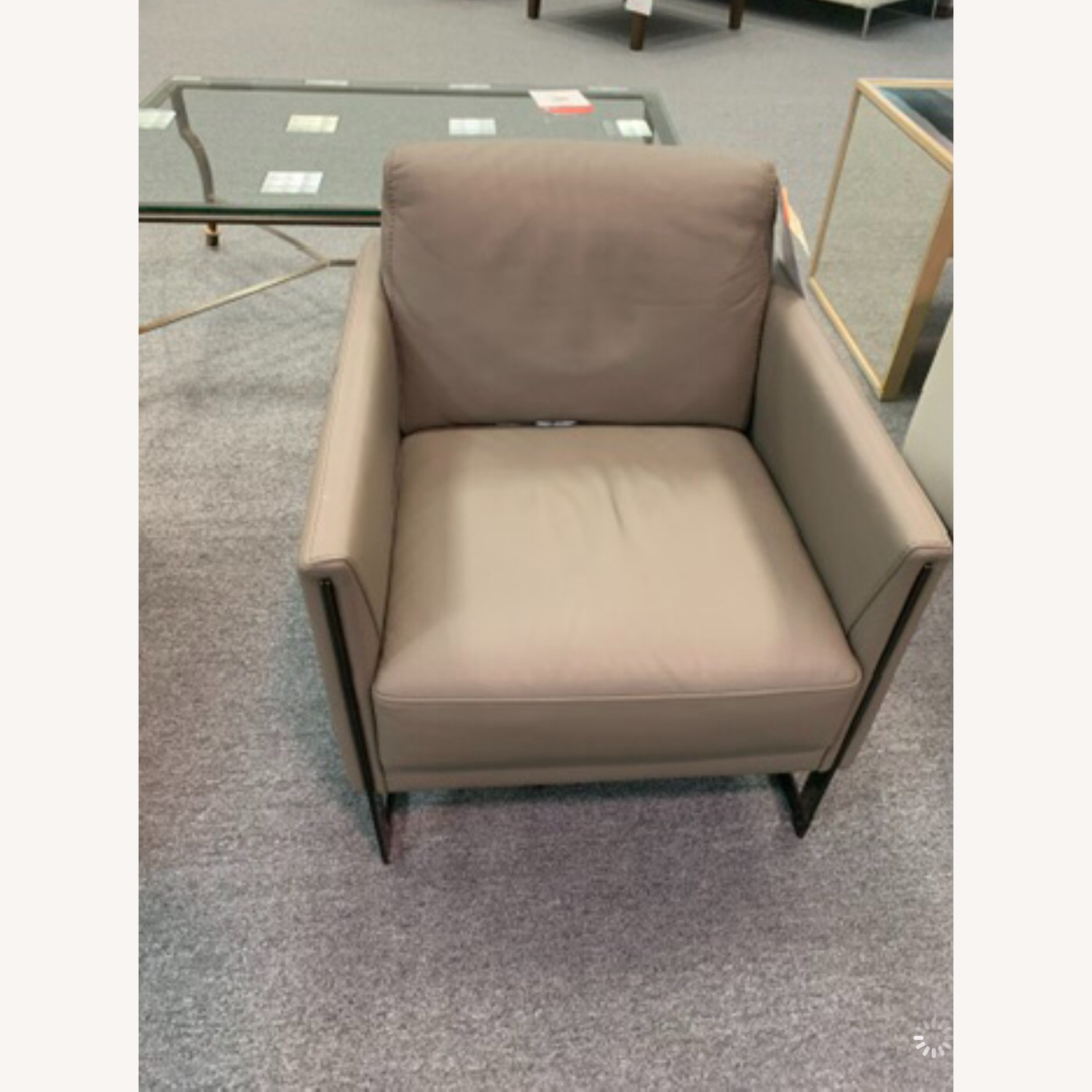 Nicoletti Vincent Leather Sectional Sofa + Coco Accent Chair