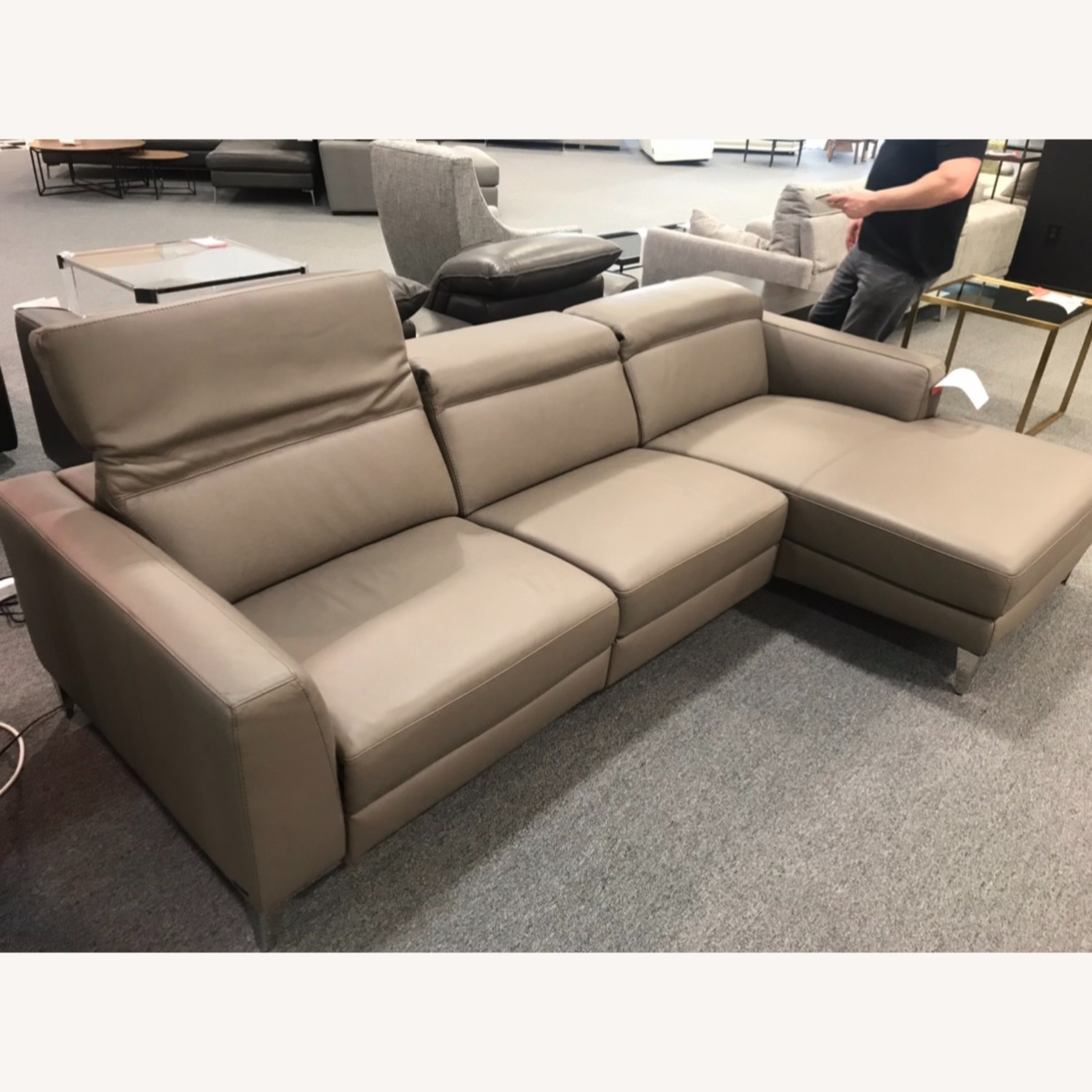 Nicoletti Vincent Leather Sectional Sofa - image-2